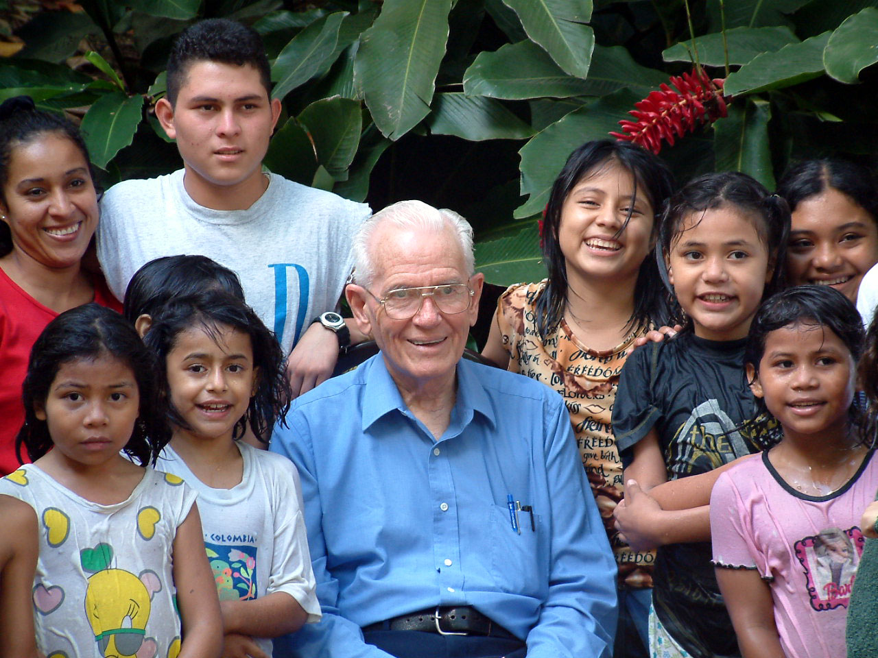 Fr. Wasson in El Salvador in 2003